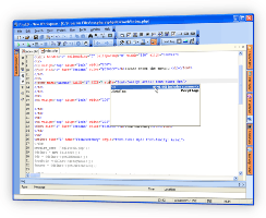 Php Editor HTML code Templates list