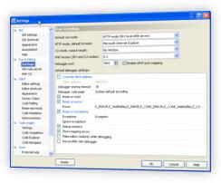 PHP Debugger Settings