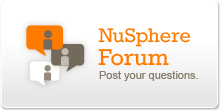 Visit the NuSphere support forum
